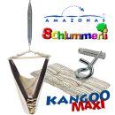 Federwiege Babyhängematte Amazonas Kangoo MAXI cacao