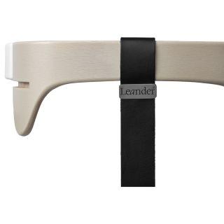 Leander Hochstuhl Sicherheitsbügel mit Ledergurt für Hochstuhl white wash