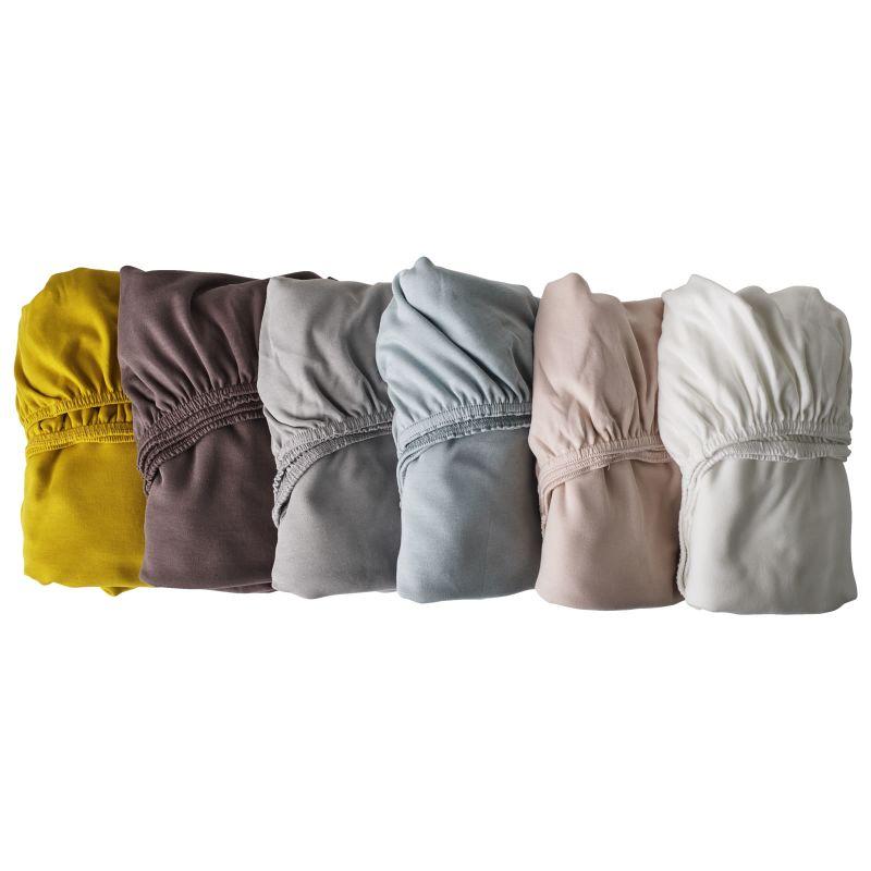 soft pink Leander Doppelpack weiches Jersey-Bettlaken f/ür Babybett