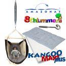Federwiege Babyhängematte Amazonas Kangoo MAXIplus grey