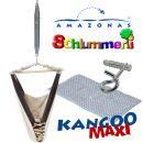 Federwiege Babyhängematte Amazonas Kangoo MAXI grey