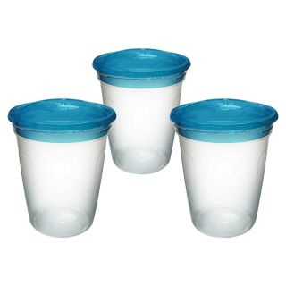 griptight 3er-Pack Vorratsbehälter mit Schraubverschluss  für Essen, Muttermilch etc.