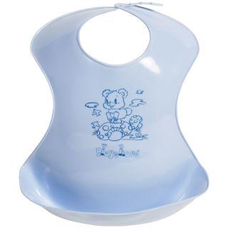 Playshoes Kunststoff Lätzchen mit Auffangschale blau