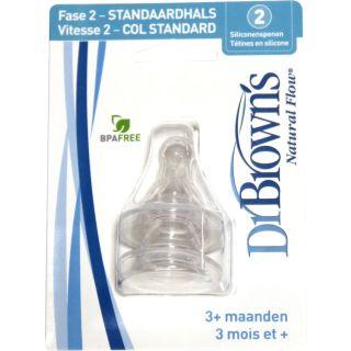 2er-Pack Dr Browns Silikon-Sauger für Normalflaschen